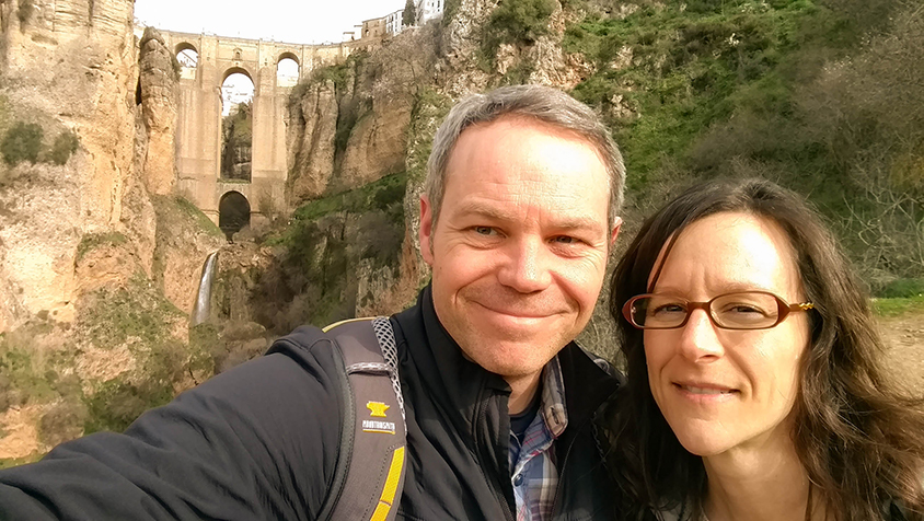Visiting Ronda Spain during the mid-year conference.