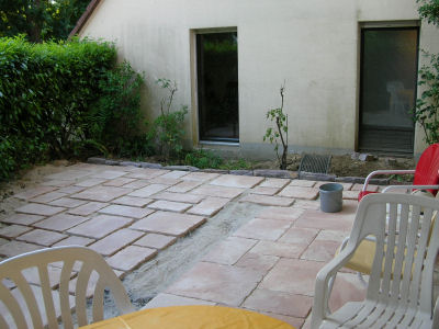 New backyard paver tiles