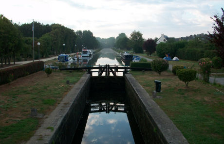 a lock along the canal