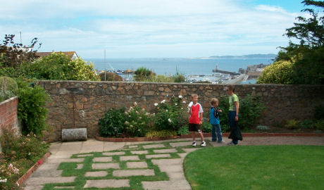 At Victor Hugo's house on Guernsey
