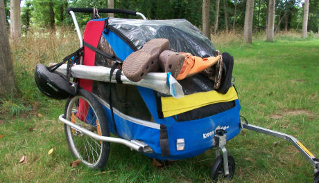 Our bike trailer fully loaded