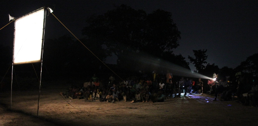 Projecting the Jesus Film in Burkina Faso