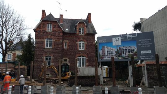 Old stone house in Rennes, about to be torn down