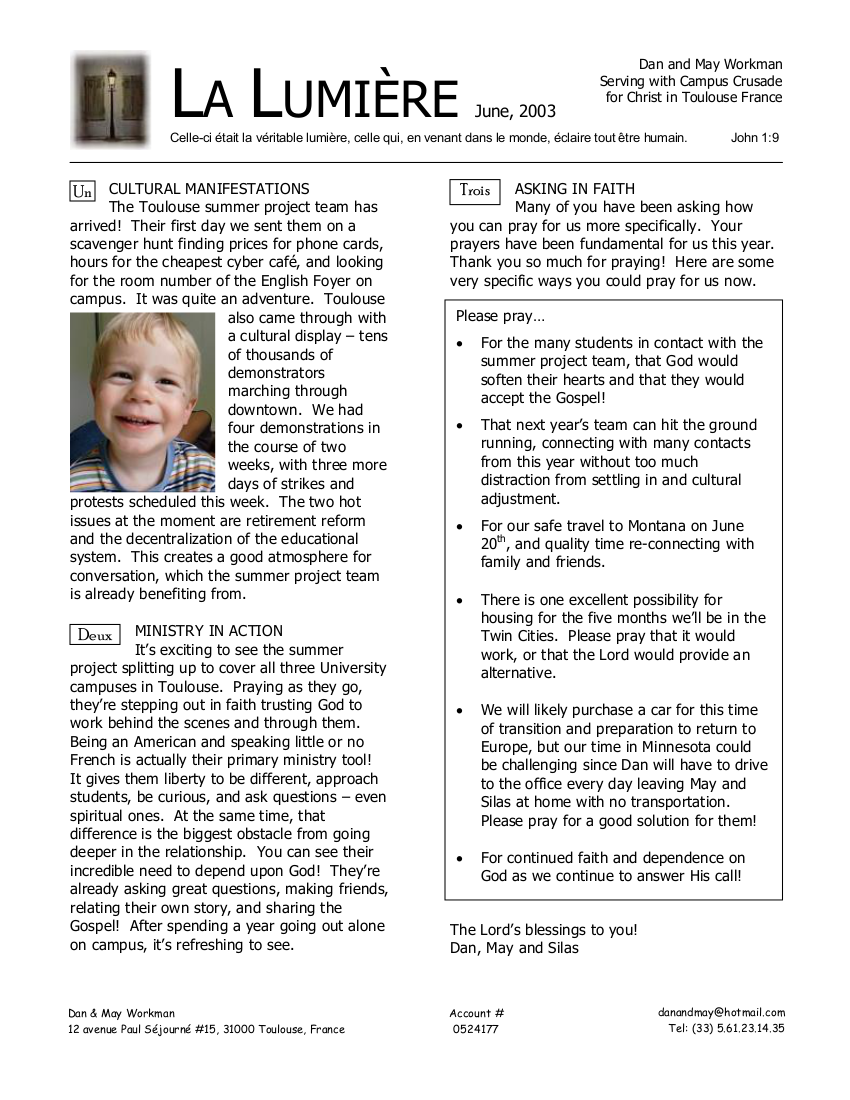 Newsletter June 2003