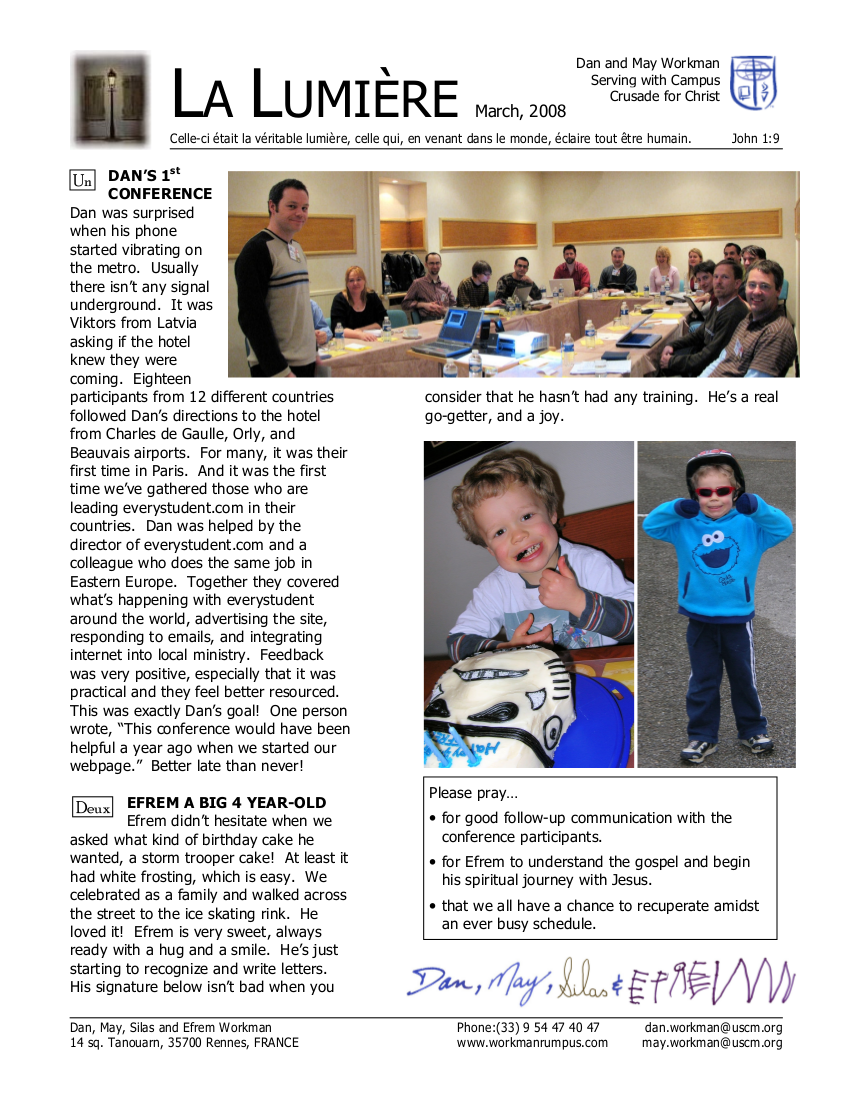 Newsletter March 2008