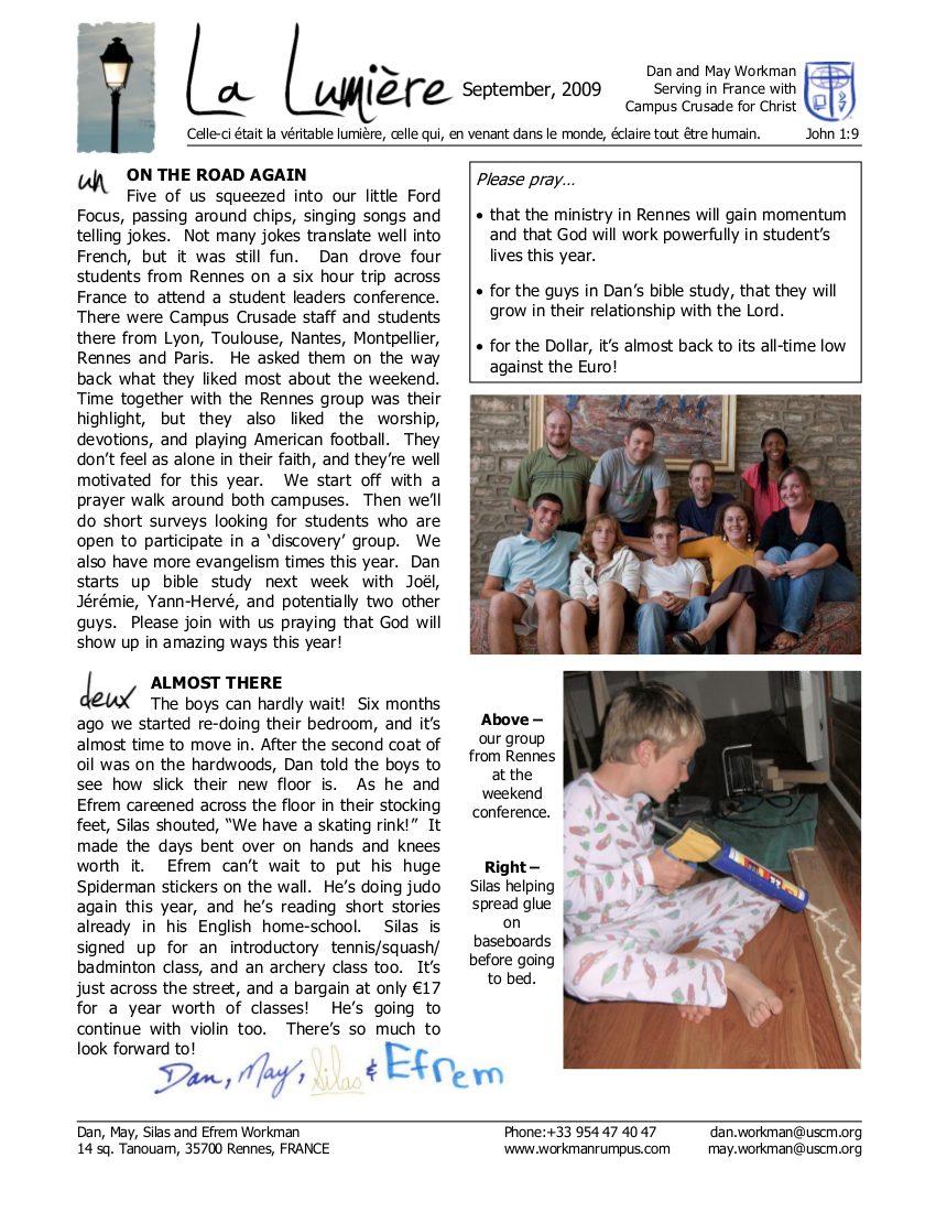 Newsletter September 2009